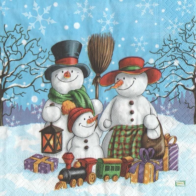Serviettage pour loisirs cr atifs - Bonhomme de neige en papier ...