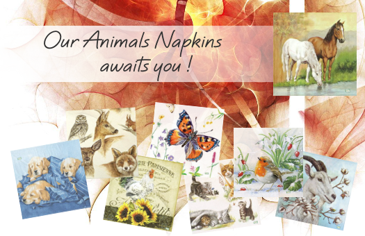 Our Animals Napkins awaits you !