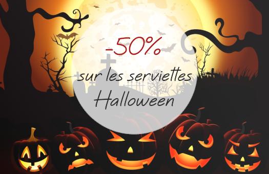 -50% sur les serviettes Halloween !