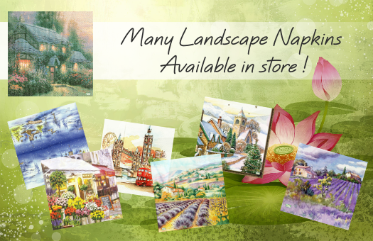 Many Landscape Napkins available in store !