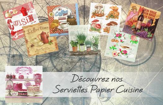 Découvrez nos serviettes papier Cuisine