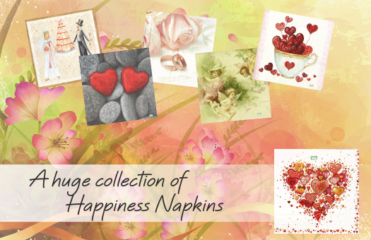 A huge collection of Happiness Napkins