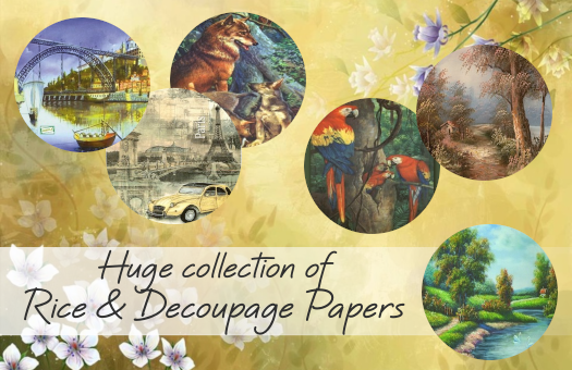 Huge collection of Rice & Decoupage Papers !