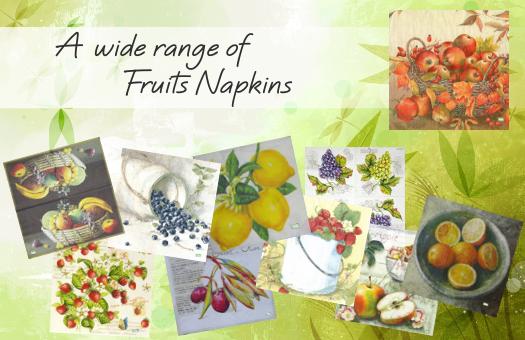 A wide range of Fruits Napkins