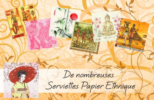 De nombreuses serviettes papier Ethnique